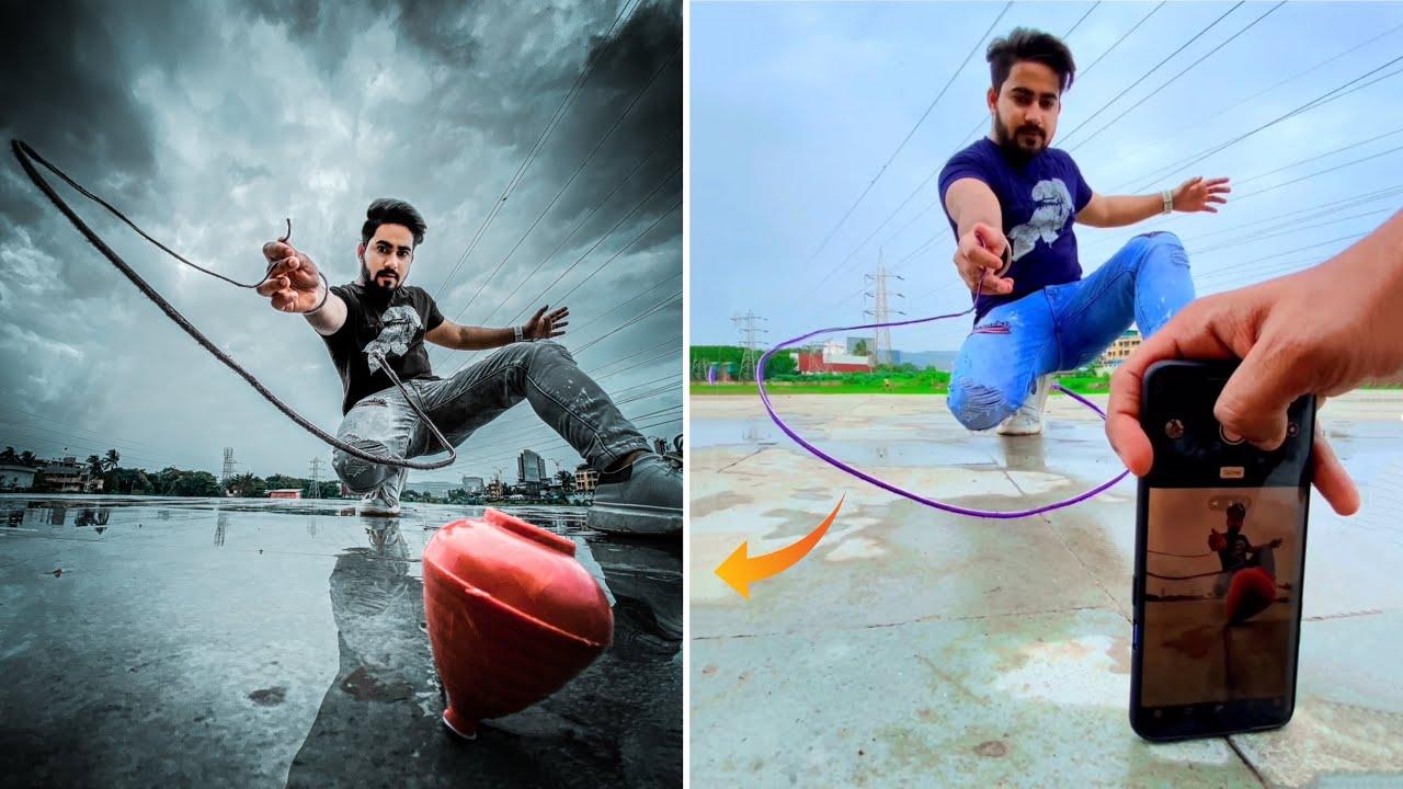 Brilliant Phone Photography Ideas With Lattu Toy 🔥 #shorts