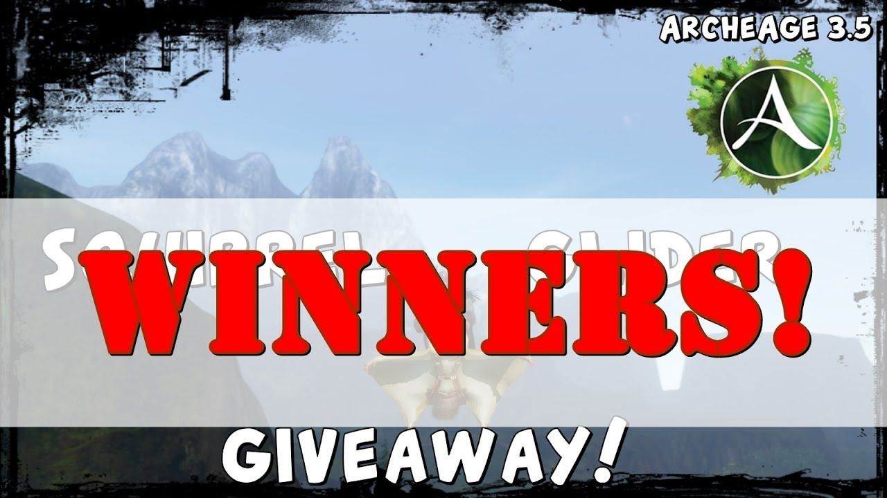 glider giveaway archeage squirrel glider giveaway i winners archeage 5502