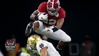 Watch the alabama crimson tide's second touchdown drive vs. notre dame fighting irish during college football playoff semifinals, capped off by a mac...
