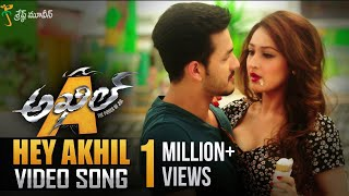 Hey Akhil Full video Song    Akhil Movie Video Songs    Akhil Akkineni, Sayyeshaa