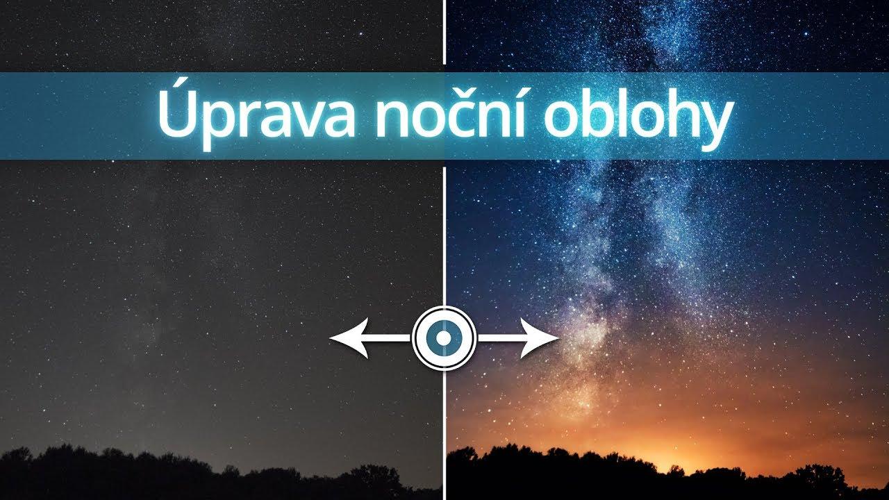 Úprava noční oblohy | Photoshopové Orgie