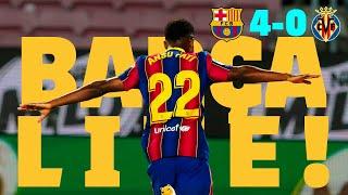 🔥 ANSU SCORES TWO IN FOUR MINUTES 🔥 | BARÇA LIVE | Barça 4 - 0Villarreal| WARM UP & MATCH CENTER