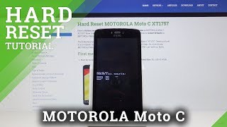 Hard Reset MOTOROLA Moto C - Bypass Screen Lock / Wipe Data