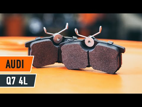 How To Change Brake Pads >> How to change a rear brake pads AUDI Q7 4L TUTORIAL ...