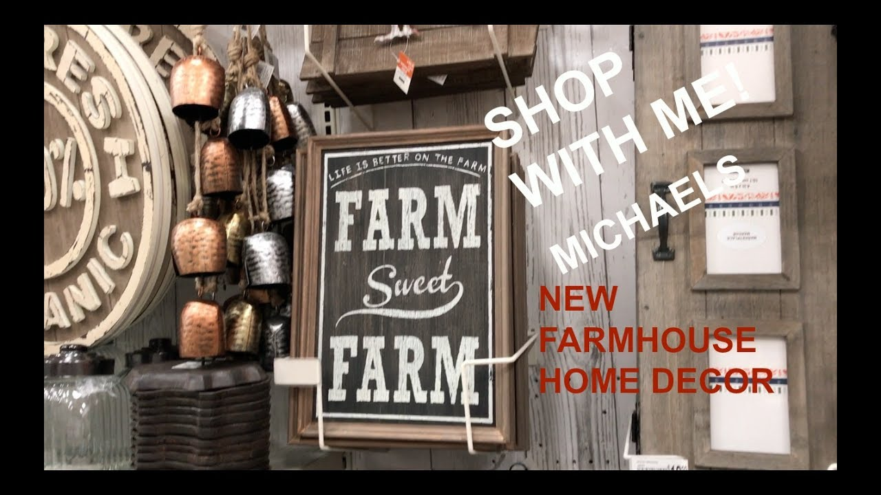 New michaels farmhouse home decor shop with me youtube for Michaels home decor