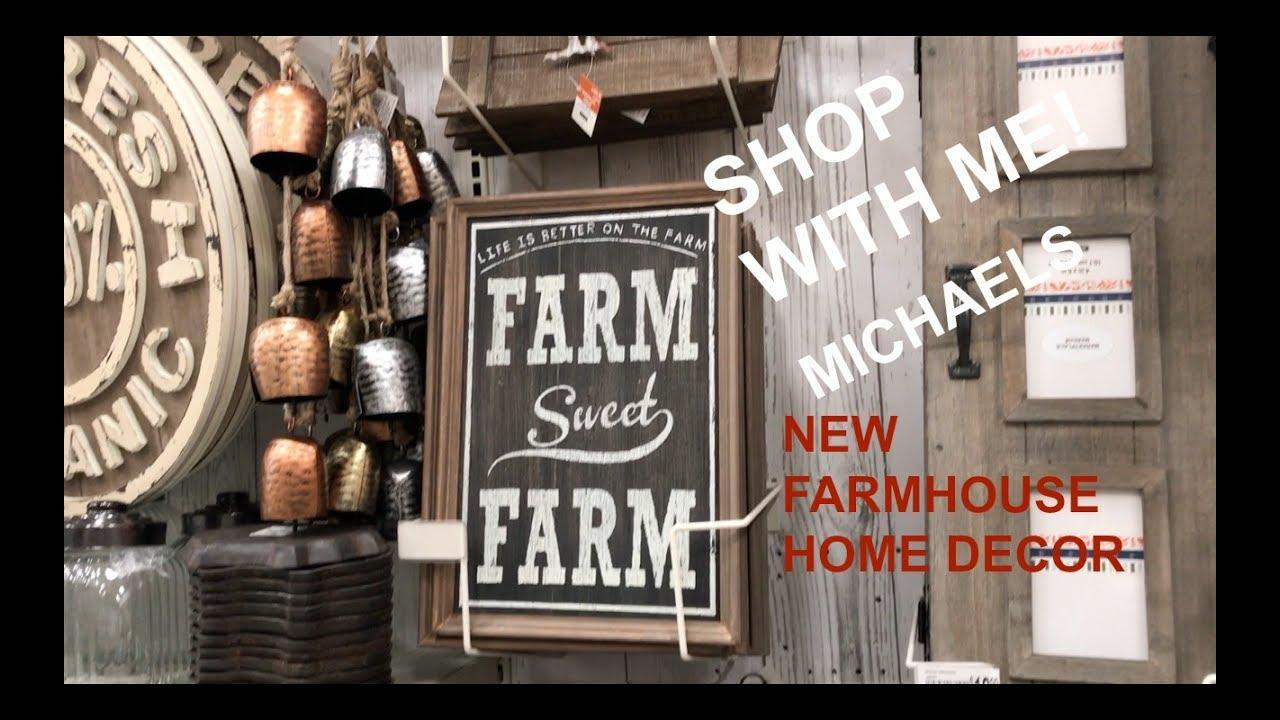 New michaels farmhouse home decor shop with me youtube Michaels home decor