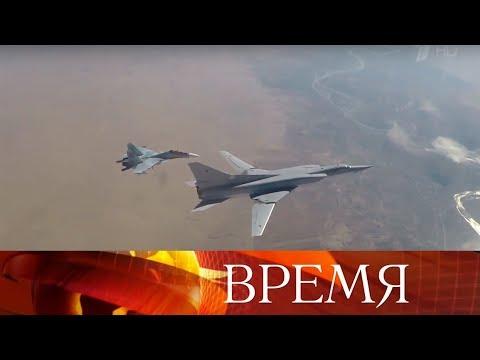 Стратегическая авиация России нанесла точечные удары потеррористам вСирии.