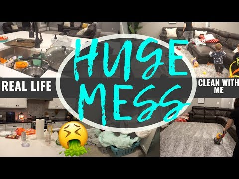 NEW! ALL DAY EXTREME CLEAN WITH ME 2019 | MESSY HOUSE CLEANING MOTIVATION