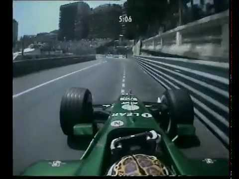 F1 Monaco 2001 Qualifying - Eddie Irvine Action!