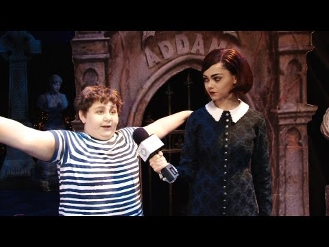 Interview with Addams Family Cast  Wednesday and Pugsley