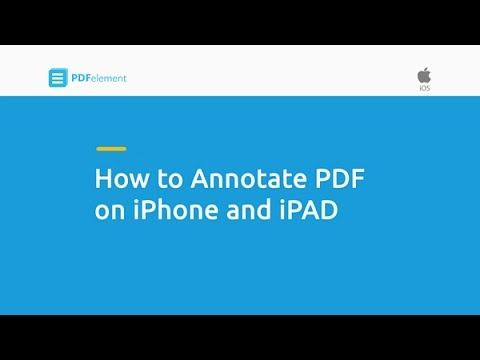 How To Annotate PDF On IPhone And IPad