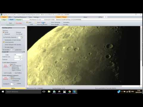 Simple and easy to follow tutorial for using Registax to process and stack Astrophotography images
