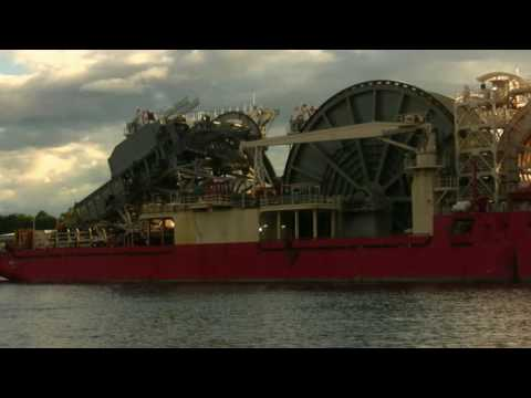 Pipe Laying Vessel Apache II leaves the River Tyne 13th July 2016
