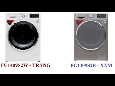 Máy giặt LG FC1409S2E màu xám và LG FC1409S2W màu trắng inverter 9 kg