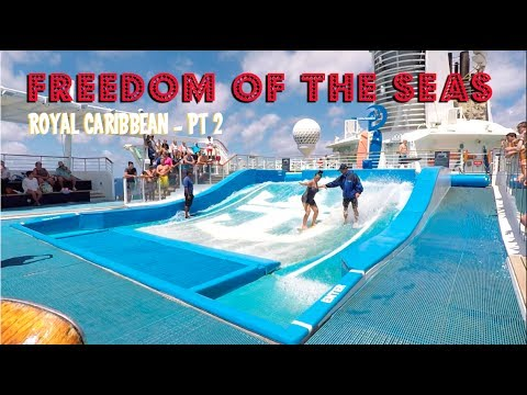 Royal Caribbean Freedom of the Seas Ship Tour pt 2 - the Pool Deck