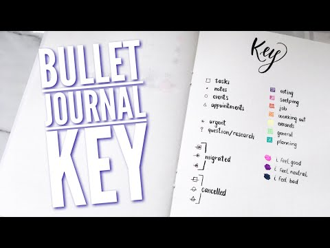 Bullet Journal Key | Basic Symbols To Include In A Bullet Journal Key