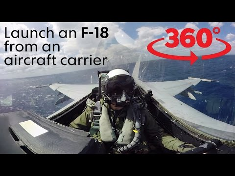 VR launch off an aircraft carrier, highline over a canyon
