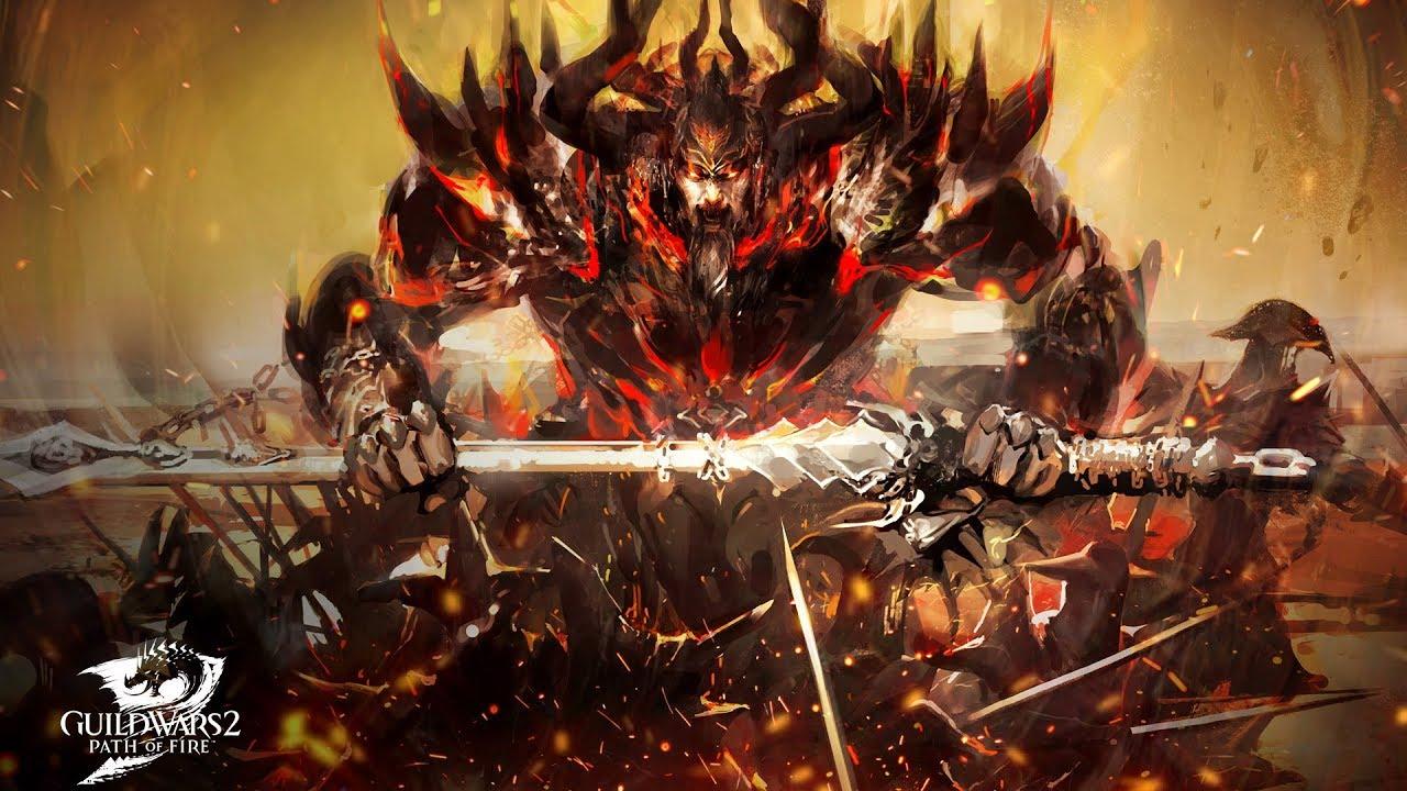 guild wars 2 path of fire balthazar boss battle youtube