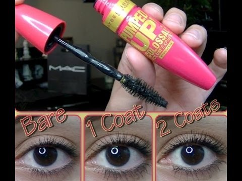 Maybelline Pumped Up Mascara *1st Impression/Review* - YouTube
