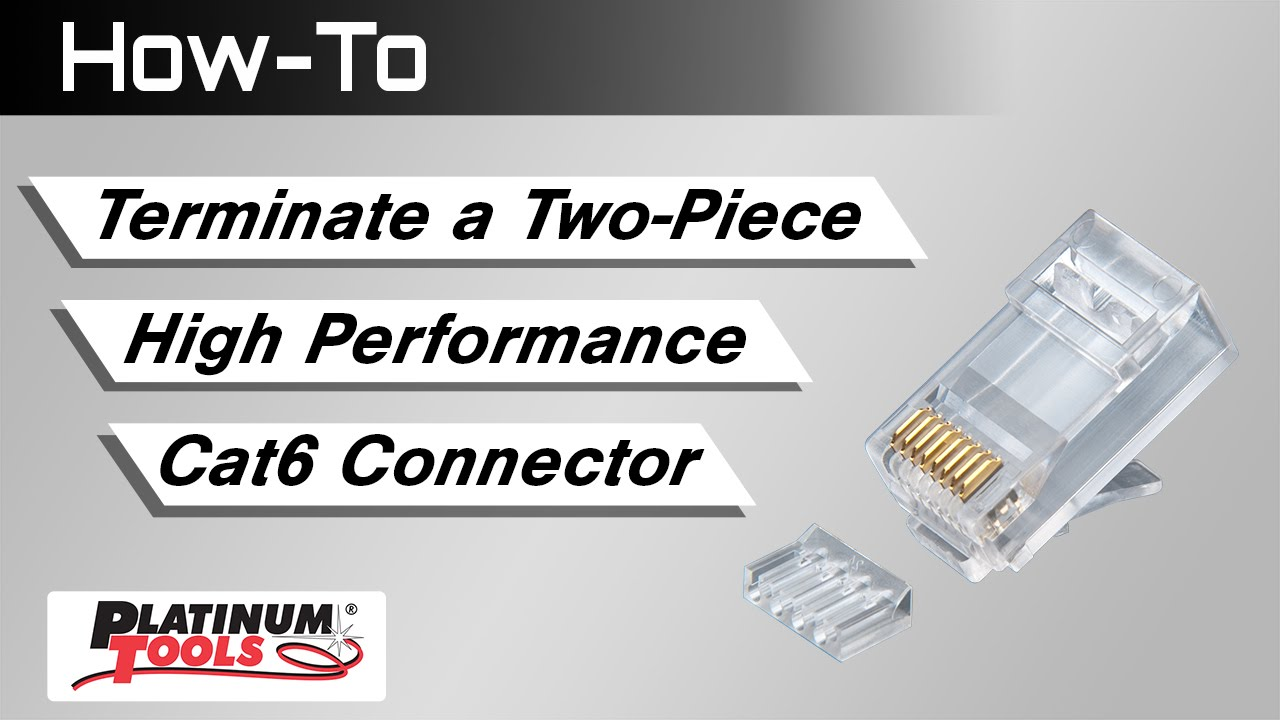 how to terminate a two piece high performance cat6 connector youtube cat6 crimp connectors solid cable wiring cat6 connectors [ 1280 x 720 Pixel ]
