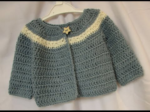 VERY EASY crochet cardigan / sweater / jumper tutorial - baby and child sizes