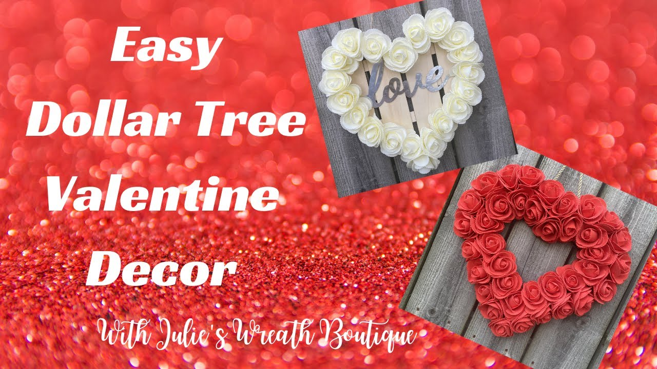 Dollar Tree Crafting | Dollar Tree Valentine | Rose Wreath Tutorial | Dollar Tree Crafts and Wreaths