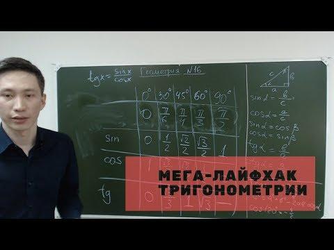 Как запомнить таблицу синусов, косинусов и т.д. за 1 минуту? Мега-лайфхак в тригонометрии!