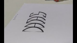 3D Calligraphy, 3DIPK, 3D Alphabets, 3D Drawing, Calligraphy, 3D illusion