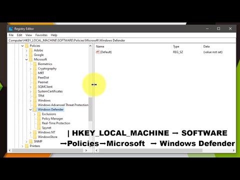 Windows Defender Disableantispyware Missing In Registry Enable/Disable/Create New