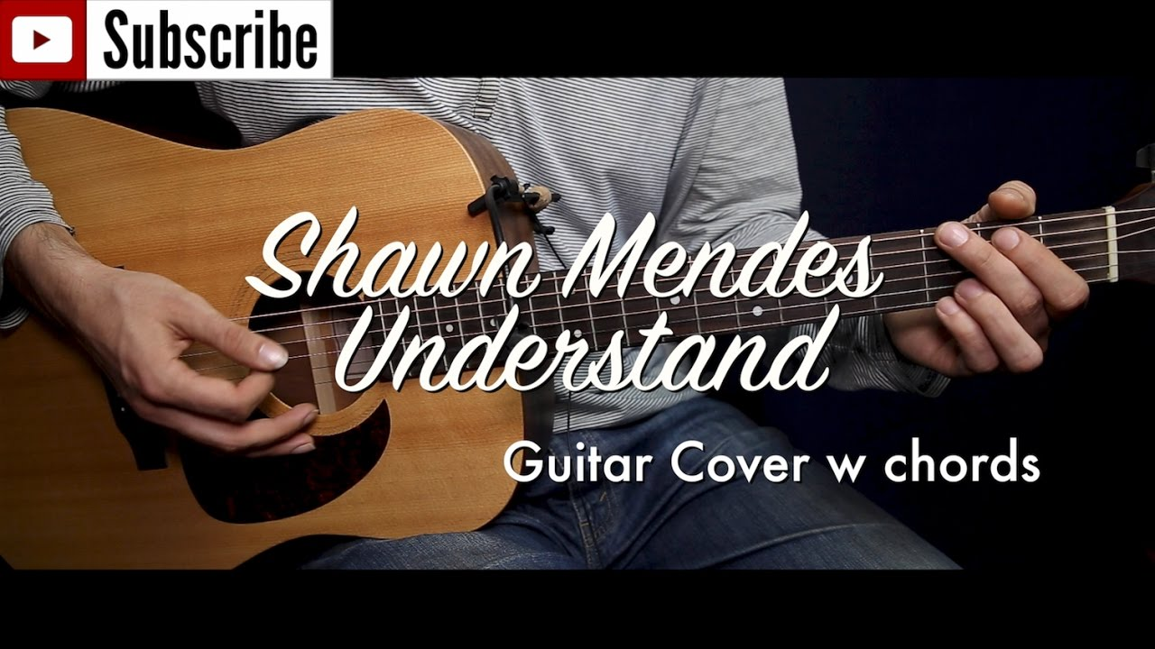 Shawn Mendes - Understand guitar cover/guitar (lesson/tutorial) w ...