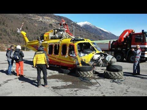 Agusta Elisoccorso Trentino, il recupero dopo l'incidente in quota