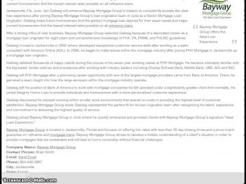 Ian Giebeig   Bayway Mortgage - Press Release
