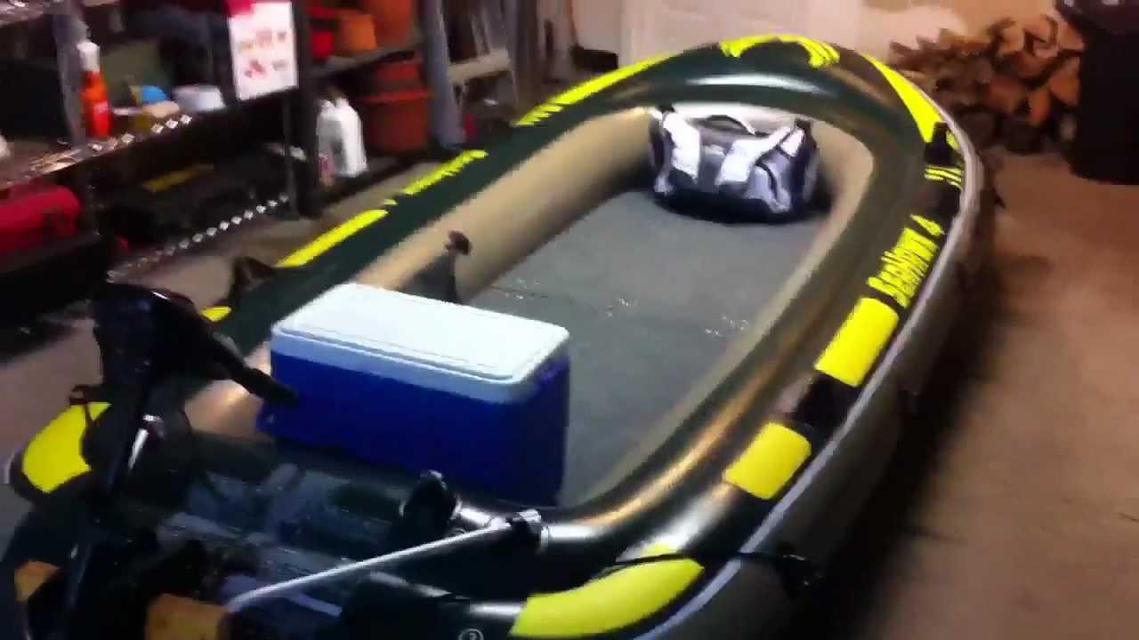 Custom bass boat seahawk 4 youtube for Wood floor intex excursion 5
