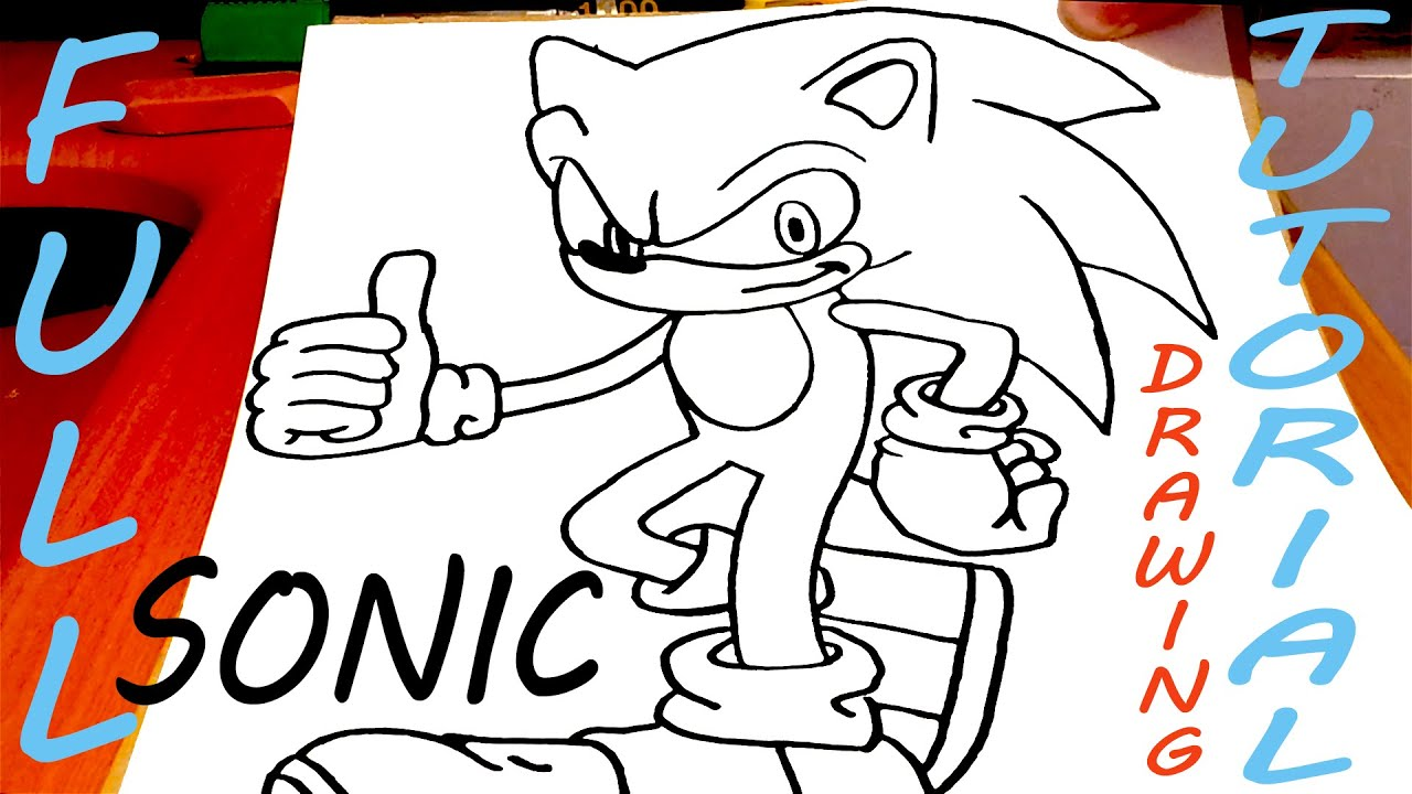 how to draw sticks from sonic