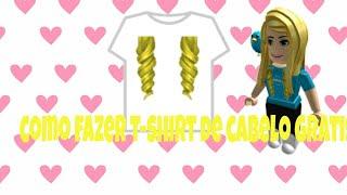 T-shirt de cabelo Free roblox tutorial