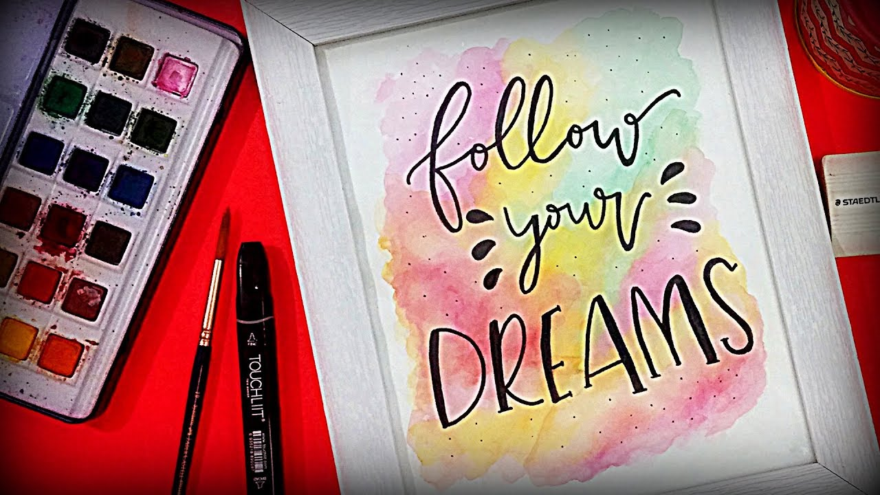 DIY Water Color Painting | Room Decor Ideas | Photo frame ART - YouTube