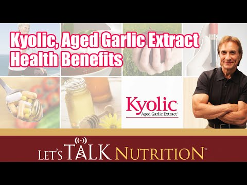 Let's Talk Nutrition: Kyolic, Aged Garlic Extract Health Benefits