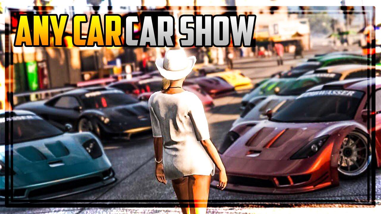 GTA 5 Online - 'ANY CAR' CAR SHOW W/ NEW STUNT VEHICLES
