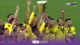 FULL Villarreal Trophy Presentation, their first-ever European trophy 🏆   UEL 20/21 Moments