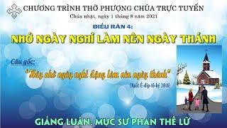 HTTL BẾN TRE - Chương trình thờ phượng Chúa - 01/08/2021