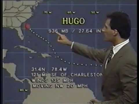 Jim Cantore - Hurricane Hugo (September 21, 1989)