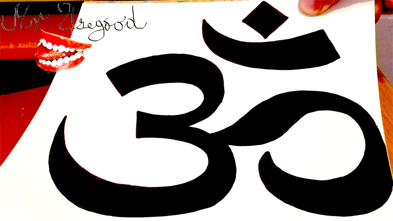 How To Draw Om Symbollogo Easy On Paper With Pencil And Color For