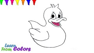 Rubber Duck Coloring Book Learn Colors For Kids