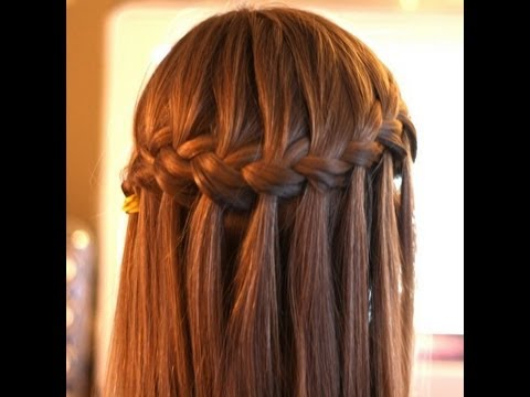Peinado Trenza de cascada, waterfall braid