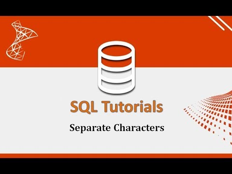 SQL Tutorials - 11.Separate Characters In SQL  Like First And Last Name