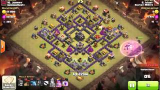 Clash of Clans Clan War Lava Hound and Ballon Tactic (Blast)