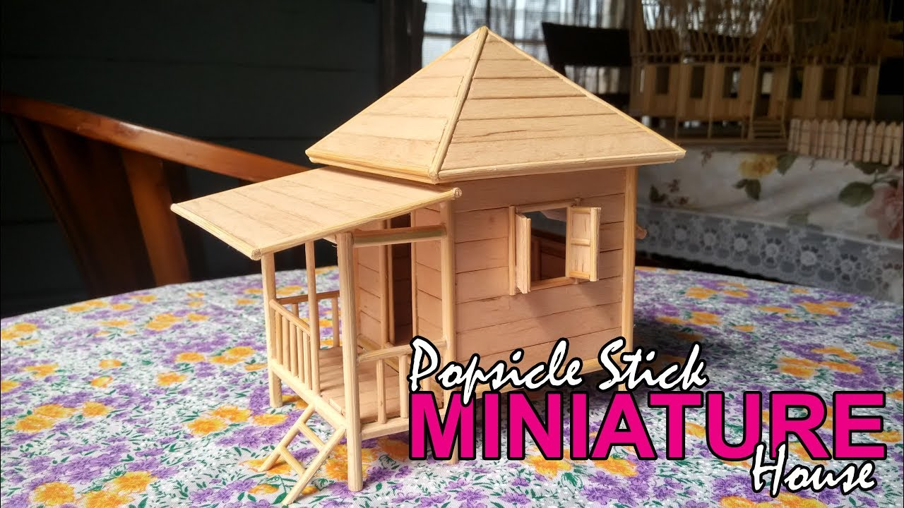 Popsicle Stick Miniature House Beach Custom Made