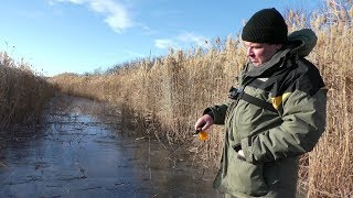 Перший лід. Щука на Раттлины і Балансири. Зимова риболовля 2018