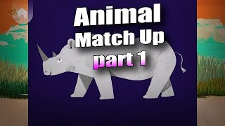 Learn Animal Names Games For Kids | Animal Match Up Gameplay 1