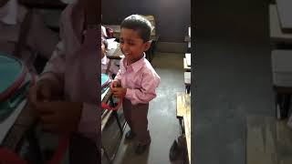 Crying child sing a funny song in the 🏫 school